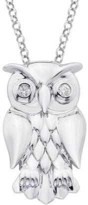 Little Diva Diamonds Sterling Silver Owl Children's Pendant