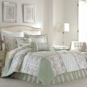 Laura Ashley King Harper Green Comforter Set Bedding