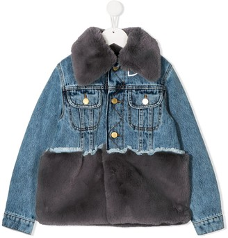 Natasha Zinko Kids Faux-Fur Denim Jacket