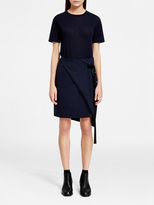 DKNY Asymmetric Pinstripe Skirt