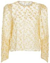 The Georgie Silk-Blend Floral Blouse