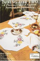 Tobin Stamped Placemats and Napkins for Embroidery
