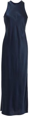 Frame Ribbed Jersey-paneled Silk-charmeuse Maxi Dress