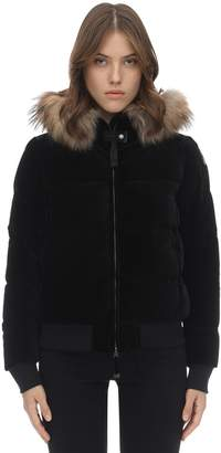 Parajumpers Stephany Velvet Down Jacket W/ Fur