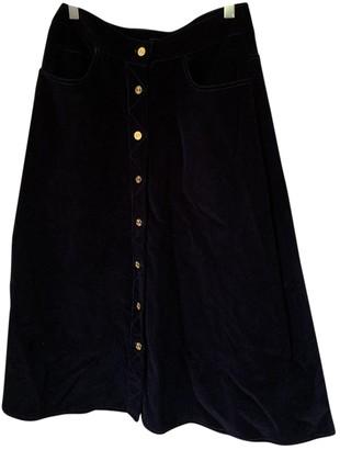 Meadham Kirchhoff Navy Cotton Skirt for Women