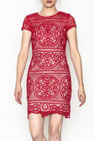 Minuet Red Lace Dress