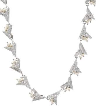 Kate Spade Pavé & Simulated Pearl Statement Necklace, 17""