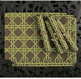 Garden Table Linens and Bumblebee Napkin Rings