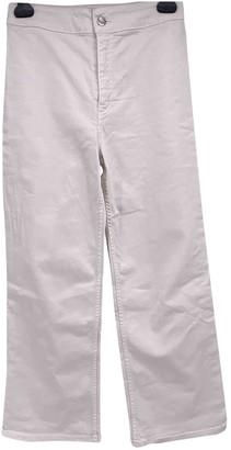 Roseanna White Cotton Trousers