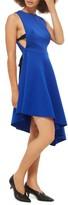 Topshop Women's Lace-Up Back Asymmetrical Dress