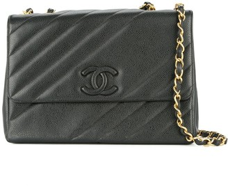 Chanel Pre Owned 1994-1996 Chanel Jumbo XL chain shoulder bag