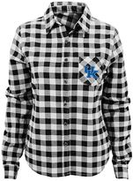 Juniors' Kentucky Wildcats Buffalo Plaid Flannel Shirt