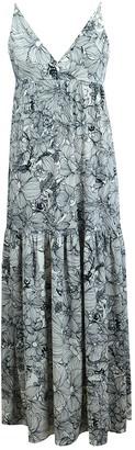 Velvet Torch Tank Tiered Maxi Dress
