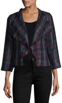 Karl Lagerfeld Women's Tweed Waterfall Jacket