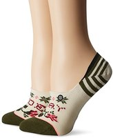 Stance Women's Slay Ride Floral Stripe Arch Support Super Invisble Sock