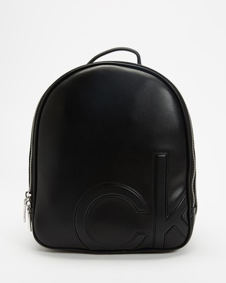 Calvin Klein Women's Black Backpacks - Round Small Backpack - Size One Size at The Iconic