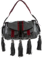 Thomas Wylde Tassel-Embellished Embossed Shoulder Bag