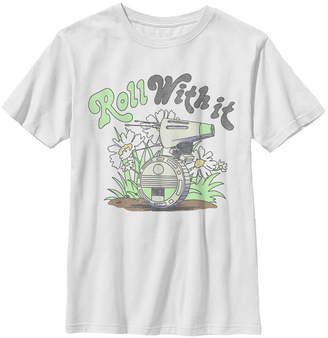 Star Wars Big Boys D-o Roll With It Short Sleeve T-Shirt