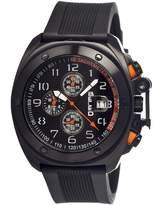 Breed Sander Black Dial Chronograph Black Polyurethane Strap Men's Watch