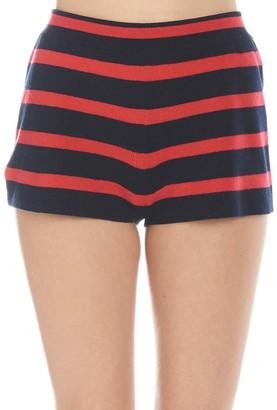 Barrie Striped Mini Shorts