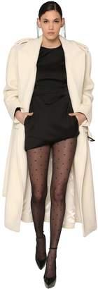 Saint Laurent Long Wool Chevron Coat