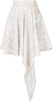George Keburia High-Low Hem Skirt