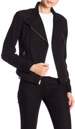 Andrew Marc Laney Asymmetrical Front Zip Jacket