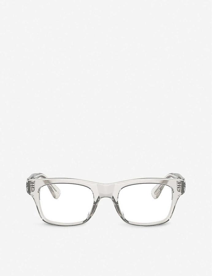 Thumbnail for your product : Oliver Peoples OV5432U Brisdon acetate rectangle-frame glasses