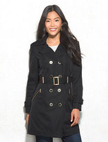 dressbarn roz&ALI Double Breasted Trench Coat