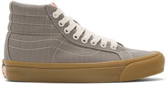 Vans Grey Herringbone OG Sk8-Hi LX Sneakers