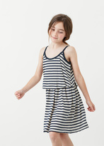 MANGO KIDS Striped Cotton Dress
