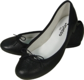 Black Lamb Skin Ballet Flats, 30% off