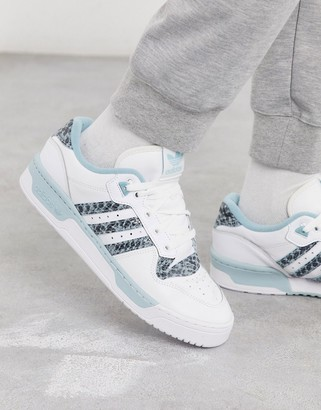 adidas Rivalry Low sneakers in blue with snakeskin