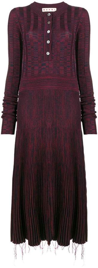 Marni patterned sweater dress