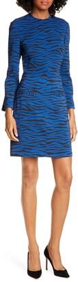 A.L.C. Noelle Bracelet Sleeve Tiger Print Dress