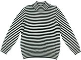 Calvin Klein Women's Essential Striped Mock Neck Sweater