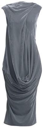 Rick Owens Ellipse Velvet Midi Dress