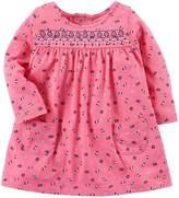 Carter's Baby Girls' Long Sleeve Jersey Dress