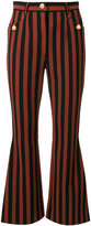 Dolce & Gabbana striped trousers with dog detail buttons