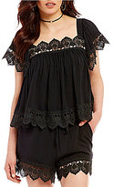 Moon River Scallop Lace Top