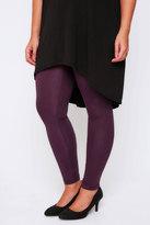"Yours Clothing Purple Viscose Elastane Full Length - 28"" Leg"