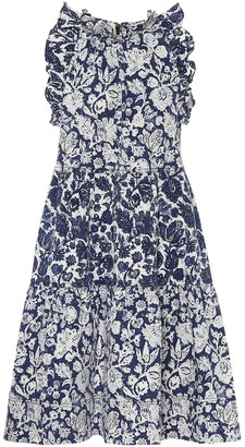 Ulla Johnson Talita floral denim dress