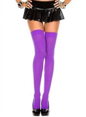 Its All Goods Over The Knee Sexy Cotton Compression Socks - Purple