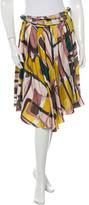 Marni Abstract Print Wrap Skirt
