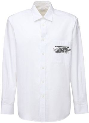 Burberry Oversized Rubber Logo Light Cotton Shirt
