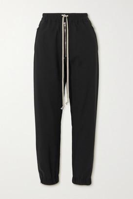 Rick Owens Zip-embellished Woven Track Pants - Black