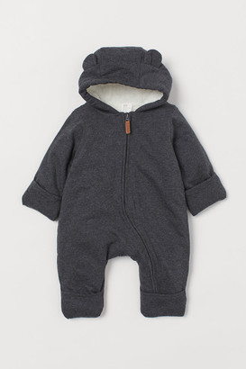 H&M Lined Baby Bunting - Gray