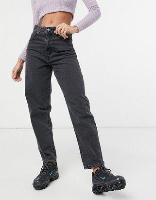 Levi's high loose tapered leg jeans in black