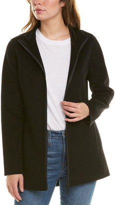 Forte Cashmere High-Low Wool & Cashmere-Blend Coat