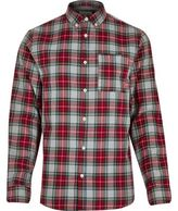 River Island MensRed smart plaid shirt